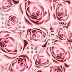 Senget på roser Sømløs design med vektor
