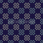 Four-Leaf Clover Repeat Pattern