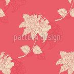 Flor Retro Chinês Design de padrão vetorial sem costura