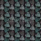 Nordische Blumenherzen Vektor Muster