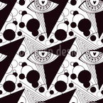 Sacred Eyes Seamless Vector Pattern Design