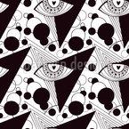 Ojos sagrados Estampado Vectorial Sin Costura