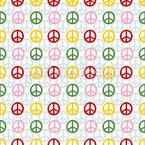 Signe de paix Motif Vectoriel Sans Couture