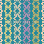 Stripes Of Loops Seamless Vector Pattern Design