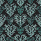 Nordic Framed Hearts Seamless Vector Pattern