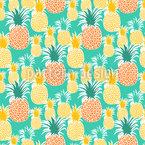 Plantação de ananás Design de padrão vetorial sem costura