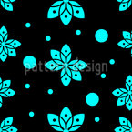 Indonesian Blossoms Seamless Vector Pattern Design