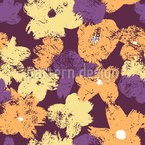 Contrast Flowers Seamless Vector Pattern Design