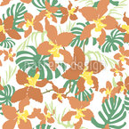 Exotic Summerflowers Seamless Vector Pattern Design