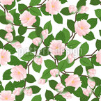 Spring Camellia Seamless Vector Pattern Design