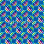 Octógonos na frente de arco-íris Design de padrão vetorial sem costura