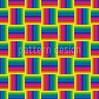 Arco-íris em retângulos Design de padrão vetorial sem costura