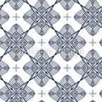 Comprobación Mandala Estampado Vectorial Sin Costura