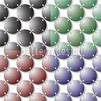 Anéis de metal Design de padrão vetorial sem costura