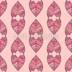 Girly Ethnic Leaves Seamless Vector Pattern Design