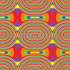 Rainbow Retro Seamless Vector Pattern Design