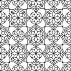 Geometría Islámica Estampado Vectorial Sin Costura