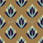 Rétro Succulent Motif Vectoriel Sans Couture