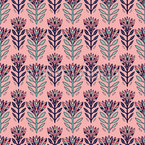 Colorful Flowers Seamless Vector Pattern Design