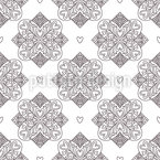 Tiles Of Love Seamless Vector Pattern Design