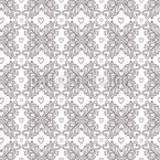Linear Ornate Hearts Seamless Vector Pattern Design
