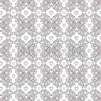 Linear Ornate Hearts Pattern Design