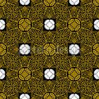 Verzierte Sonnenblumen Nahtloses Vektormuster