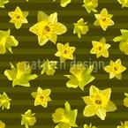水仙の花 シームレスなベクトルパターン設計
