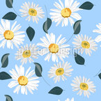 Field Daisies Seamless Vector Pattern Design