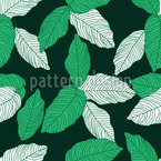 Fantastische Tropische Blätter Nahtloses Vektormuster