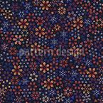 Blüten Mosaik Muster Design