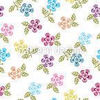 Süße Kleine Blume Nahtloses Vektormuster