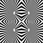 Psychedelisches Schwarzweiß Nahtloses Vektormuster