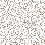 Flourish Swirls Seamless Vector Pattern Design