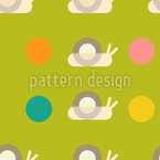 Snails And Dots Seamless Vector Pattern Design