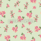 Garden Romance Green Seamless Vector Pattern