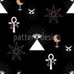 Ícones ocultos Design de padrão vetorial sem costura