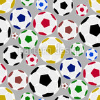 United Soccer Seamless Vector Pattern Design