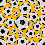 Flying Soccer Balls Seamless Vector Pattern Design