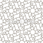 Branched Swirls Seamless Vector Pattern Design
