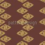Rolled Up Triangles Seamless Vector Pattern Design