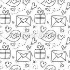 Liebesbriefe Und Geschenke Nahtloses Vektormuster