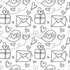 Love Letters And Presents Seamless Vector Pattern Design