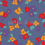 Pansies la nuit Motif Vectoriel Sans Couture