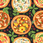 Italian Pizza Variation Seamless Vector Pattern Design