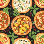 Italienische Pizza Variation Nahtloses Vektormuster