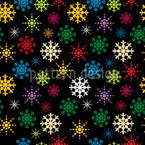 Variations flocon de neige Motif Vectoriel Sans Couture