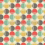 Spots On Spots Seamless Vector Pattern Design