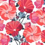 花园锦葵 无缝矢量模式设计
