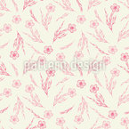 Pequeno Cravo Flor Design de padrão vetorial sem costura